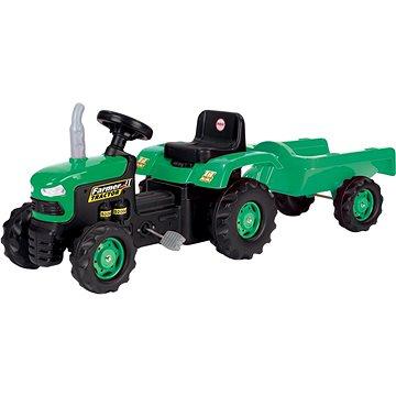 DOLU Traktor šliapací s vlečkou, zelený(8690089080530)