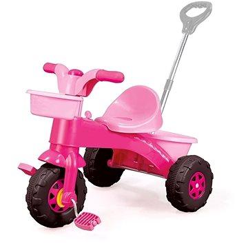 DOLU Moje první tříkolka s rukojetí, růžová (8690089070043)