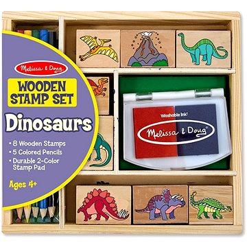 Drevené pečiatky v krabičke Dino(772116336)