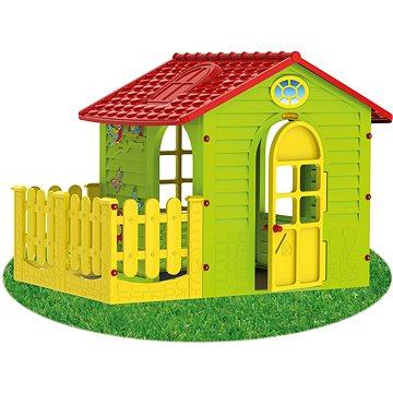 Dětský zahradní domek s plotem střední (5907442108392)