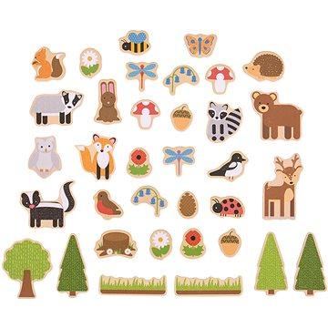 Bigjigs Toys Magnetky Lesní zvířátka (691621192757)