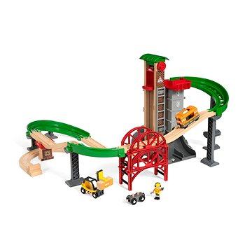 Brio World 33887 Sada Sklad se zvedacím a nakládacím zařízením (7312350338874)