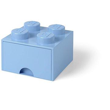 LEGO Úložný box 4 s šuplíkem - světle modrá (5711938029470)