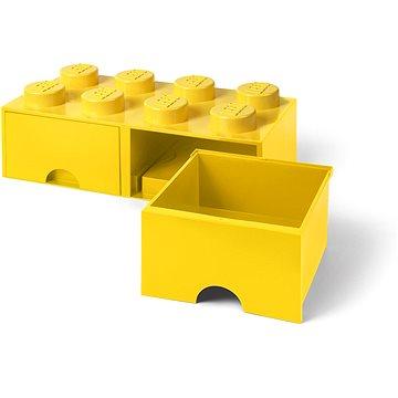 LEGO Úložný box 8 s šuplíky - žlutá (5711938029524)