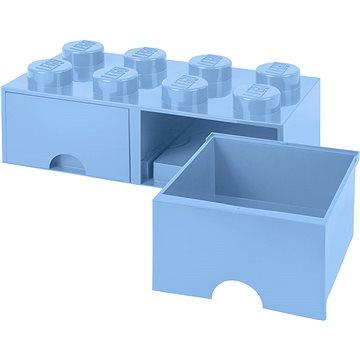 LEGO Úložný box 8 s šuplíky - světle modrá (5711938029562)