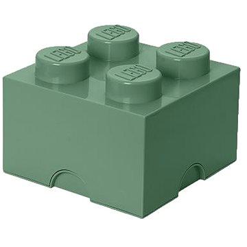 LEGO úložný box 250 x 250 x 180 mm - army zelená (5711938029616)