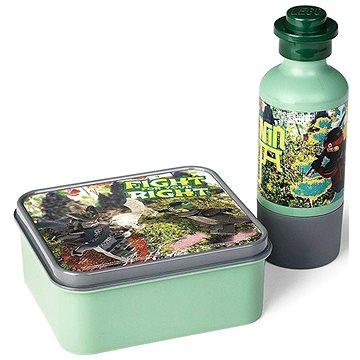 LEGO Ninjago svačinový set (láhev a box) - army zelená (5711938029869)