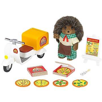 Sylvanian Families Rozvoz pizzy s příslušenstvím a jednou figurkou (5054131052389)