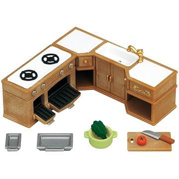 Sylvanian Families Nábytek - rohová kuchyňská linka s vybavením (5054131052228)