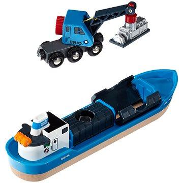 Brio World 33534 Nákladní loď a jeřáb (7312350335347)