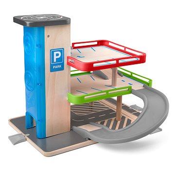 Woody Garáž s výtahem a příslušenstvím - dřevo/plast (8591864918478)