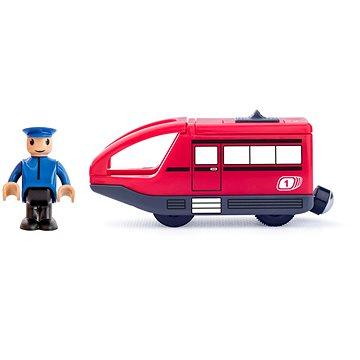 Woody Moderní elektrická mašinka - červená (8591864919086)