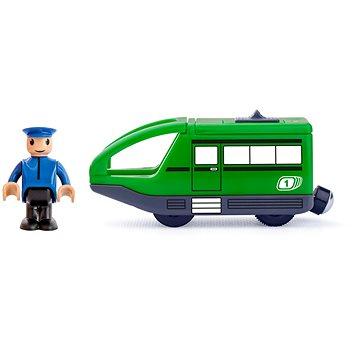 Woody Moderní elektrická mašinka - zelená (8591864919079)