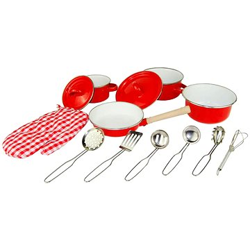Woody Červené kuchyňské nádobí s chňapkou, 13 dílů (8591864918805)