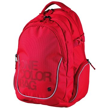 Batoh Teen One Colour červený (8591577044990a)