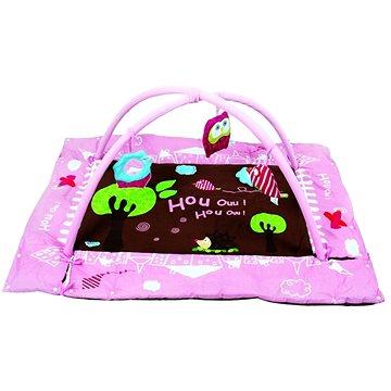 Ludi Hrací deka s mantinelem a hrazdou Sova růžová (3550839928756)