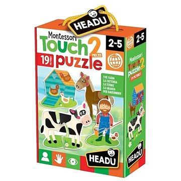 Montessori - Hmatové puzzle - Farma (8059591420874)