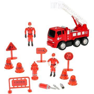 Sada hasiči - auto se žebříkem šroubovací (8592117326446)
