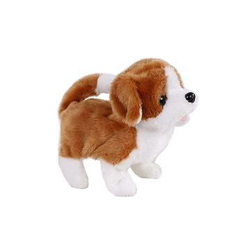 Pes plyšový bílo-hnědý (8713219344750)