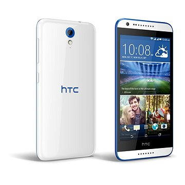 HTC Desire 620G (A31MG) Gloss White / Blue Trim Dual SIM (99HADC036-00)