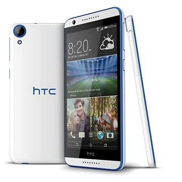 HTC Desire 620 Gloss White/Blue Trim (HTCDESIRE620WH)