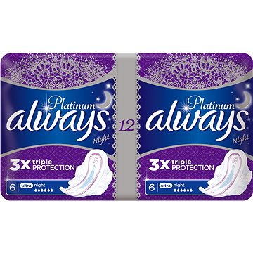 Hygienické vložky ALWAYS Platinum Ultra Night 12 ks (4015400481379)