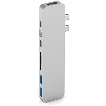 HyperDrive PRO USB-C Hub pro MacBook Pro - Stříbrný (HY-GN28D-SILVER)