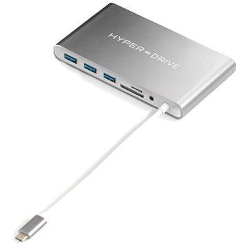 HyperDrive Ultimate USB-C Hub - Stříbrný (Hy-GN30B-SILVER)