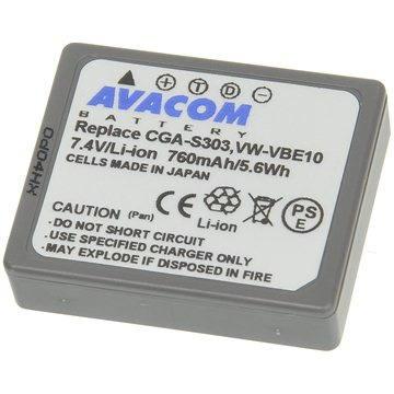 AVACOM za Panasonic CGA-S303, VW-VBE10 Li-ion 7.4V 760mAh (VIPA-S303-433)