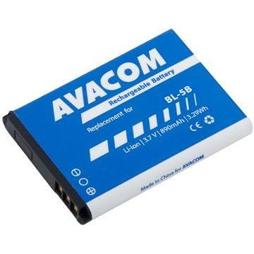 AVACOM pro Nokia 3220, 6070, Li-Ion 3.7V 890mAh (náhrada BL-5B) (GSNO-BL5B-S890)