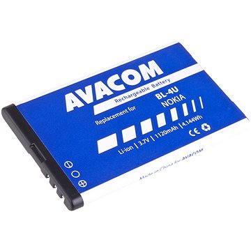 AVACOM za Nokia 5530, CK300, E66, 5530, E75, 5730, Li-ion 3.7V 1120mAh (náhrada BL-4U) (GSNO-BL4U-S1120A) + ZDARMA Baterie AVACOM Ultra Alkaline AA 4ks v blistru