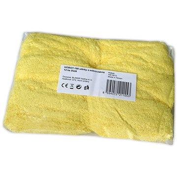 HOBOT-198 utěrky z mikrovlákna 12 ks žluté (HB19810)