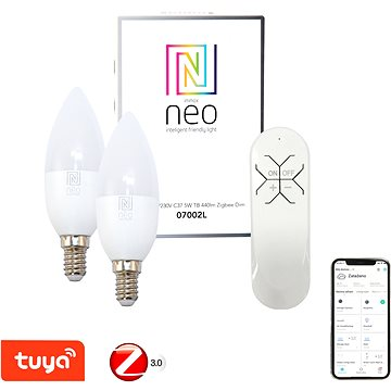 Immax Neo E14 5W teplá bílá, stmívatelná, 2ks + ovladač (07002BD)