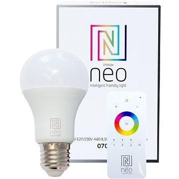 Immax Neo E27 8,5W teplá bílá, stmívatelná + ovladač (07001D)