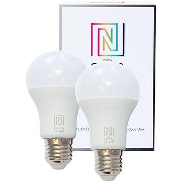 Immax Neo E27 8,5W teplá bílá, stmívatelná, 2ks (07001B)