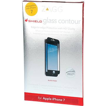 ZAGG invisibleSHIELD Glass Contour pro Apple iPhone 7 - černý rám (ZGIP7CGS-BKE)