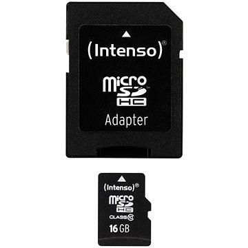 Intenso Micro SDHC 16GB Class 10 + SDHC adaptér (3413470)
