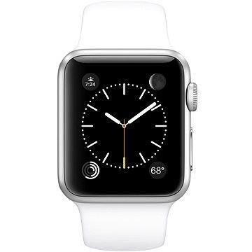 Chytré hodinky Apple Watch Sport 38mm Stříbrný hliník s bílým řemínkem (MJ2T2VR/A)