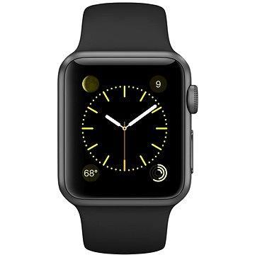 Chytré hodinky Apple Watch Sport 38mm Vesmírně šedý hliník s černým řemínkem (MJ2X2VR/A)