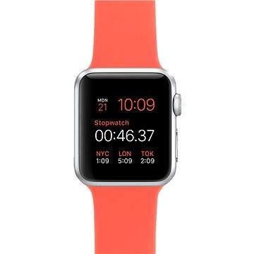 Chytré hodinky Apple Watch Sport 38mm Stříbrný hliník s meruňkovým řemínkem (MMF12HC/A)