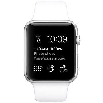 Chytré hodinky Apple Watch Sport 42mm Stříbrný hliník s bílým řemínkem (MJ3N2VR/A)
