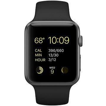 Chytré hodinky Apple Watch Sport 42mm Vesmírně šedý hliník s černým řemínkem (MJ3T2HC/A)