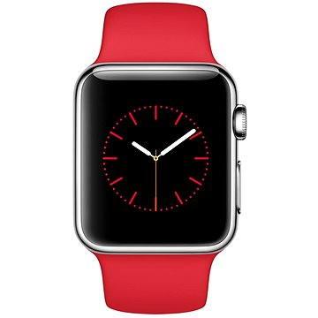 Chytré hodinky Apple Watch 38mm Nerez ocel s červeným řemínkem (MLLD2HC/A)