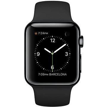 Chytré hodinky Apple Watch 38mm Vesmírně černá nerez ocel s černým řemínkem (MLCK2HC/A)