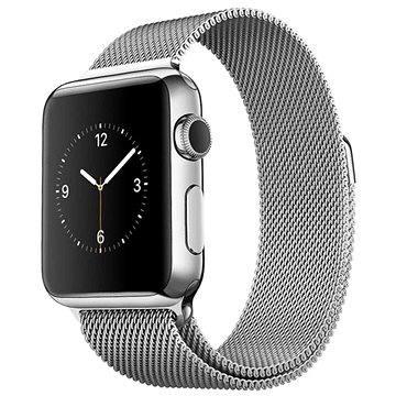 Chytré hodinky Apple Watch 38mm Nerez ocel s milánským tahem (mj322vr/a)