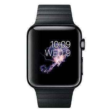 Chytré hodinky Apple Watch 38mm Vesmírně černá ocel s vesmírně černým článkovým tahem (mj3f2hc/a)