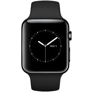 Chytré hodinky Apple Watch 42mm Vesmírně černá nerez ocel s černým řemínkem (MLC82HC/A)
