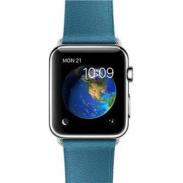 Chytré hodinky Apple Watch 42mm Nerez ocel s námořně modrým řemínkem s klasickou přezkou (MMFU2VR/A)