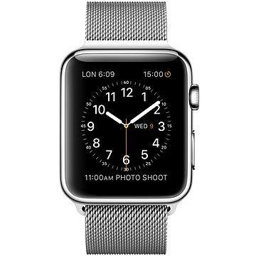 Chytré hodinky Apple Watch 42mm Nerez ocel s milánským tahem (mj3y2vr/a)