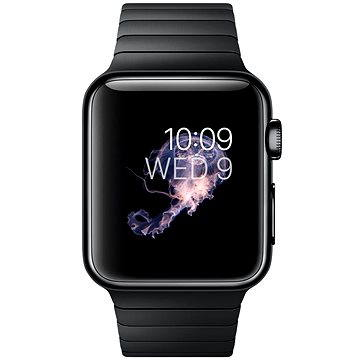 Chytré hodinky Apple Watch 42mm Vesmírně černá nerez ocel s vesmírně černým článkovým tahem (mj482hc/a)